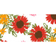 Good Life Sep 21_Washi Tape-Flowers-White Red Orange Narrow