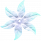 Winter Arabesque Mini Kit- Purple Silk Flower