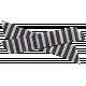 Winter Arabesque Bow- Black & White Stripes