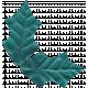 Winter Arabesque Leaf- Teal