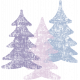 Winter Arabesque Stamp- Trees