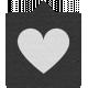 Label 105 Black & Gray Heart - Here & Now Word Art