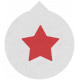 Label 106 Red Star- Here & Now Word Art