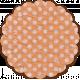 Here & Now Flower- Tissue Polka Dot Orange