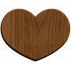 Oregonian Wood Heart- Large