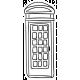 England Sticker Telephone