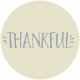 Thankful Harvest Word Circle Thankful