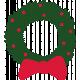Christmas Day Illustration Wreath