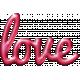 For The Love- Wordart- Love