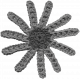 Crochet Flowers No.2- Templates- Flower 8