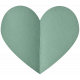 Spring Day- Elements- Folded Heart Mint
