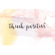 Good Vibes- Journal Cards- Think Positive- 6x4