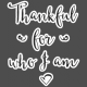 Day Of Thanks- Elements- Thankful Who I Am-Wordart
