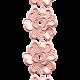 Jane- Pink Embroidered Flower Border
