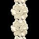 Jane - Cream Embroidered Flower Border