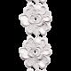 Jane- White Embroidered Flower Border