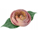 Jane- Pink Fabric Rose and Leaf