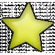 Good Day- Yellow Plastic Star