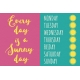 Summer Splash- Journal Cards- Textured- Every Day Sunny Day