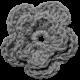 Crochet Flowers- Templates- Crochet03- Double Flower