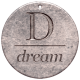 Create Something - Elements - Round Metal Tag Dream