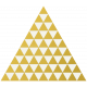 Christmas Day- Elements- Gold Vellum Triangles