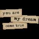 Dream Big Elements Kit - Word Art - My Dream Come True