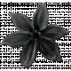 Christmas Day- Elements- Flower 01- Black