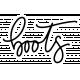 Winter Day Word Art – Boots Sticker
