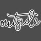 Winter Day Word Art – Outside Sticker