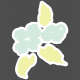 New Day Elements- Floral Sticker 1