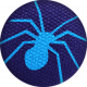 Bootiful- Fabric Button- Spider