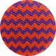 Bootiful- Fabric Button- Chevron