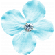 Reflections At Night Kit- Blue Fabric Flower With Rhinestone