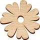 Be Bold Elements- Wood Flower