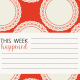 Be Bold Journal Cards- Orange, White, And Black 4x4 Doily Card- Card 1