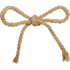 A Little Sparkle {Elements}- Brown Twine Bow