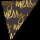 "A Little Sparkle {Elements}- ""Merry"" Word Art Flag"