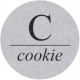 Sugar & Sweet Elements- C Tag Cookie
