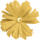 Christmas Day Elements- Yellow Flower