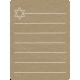 Toolbox Calendar 2- General Doodled Journal Card- Star of David