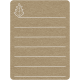 Toolbox Calendar 2 - Monthly Doodled Journal Card - Leaf