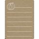 Toolbox Calendar 2 - Monthly Doodled Journal Card - Pumpkin 2