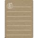 Toolbox Calendar 2 - Monthly Doodled Journal Card - Pumpkin