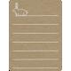 Toolbox Calendar 2 - Monthly Doodled Journal Card - Rabbit