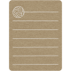 Toolbox Calendar 2 - School Doodled Journal Card - Volleyball