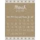 Toolbox Calendar- March Written Journal Card