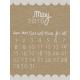 Toolbox Calendar- May Written Journal Card