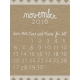 Toolbox Calendar- November Written Journal Card