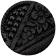 Bad Day - Black Embossed Button